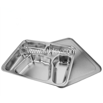 Stainless Steel Restaurant Kitchen Equipment Divided Plate